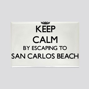 Keep calm by escaping to San Carlos Beach Magnets