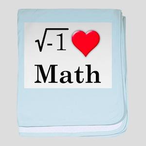 i love math baby blanket