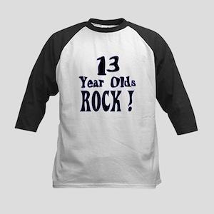 13 Year Olds Rock ! Kids Baseball Jersey