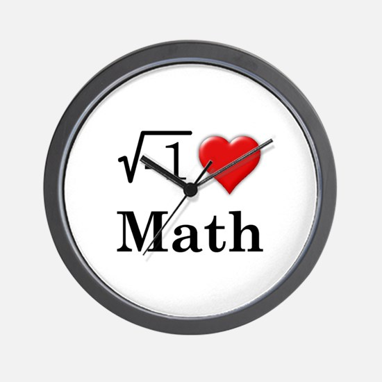 i love math Wall Clock