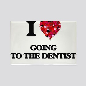 I love Going To The Dentist Magnets