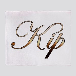 Gold Kip Throw Blanket