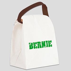 Bernie Name Weathered Green Desig Canvas Lunch Bag