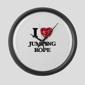 I love Jumping Rope Large Wall Clock