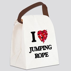 I love Jumping Rope Canvas Lunch Bag