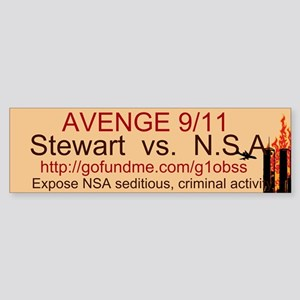 AVENGE 9/11 Sticker (Bumper)
