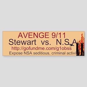 AVENGE 9/11 Sticker (Bumper)