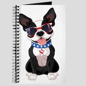 Patriotic Boston Terrier Journal