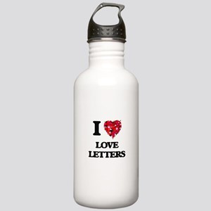 I love Love Letters Stainless Water Bottle 1.0L