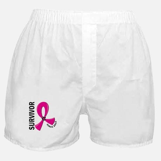 Survivor Since 2012 12.2 Breast Cance Boxer Shorts