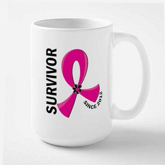 Survivor Since 2012 12.2 Breast Cancer Large Mug