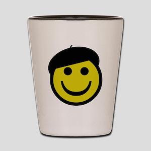 Je suis heureux Shot Glass
