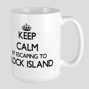 Keep calm by escaping to Block Island Rhode I Mugs