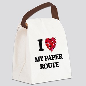I love My Paper Route Canvas Lunch Bag