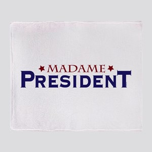 Madame President Throw Blanket