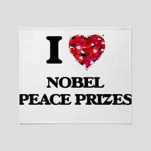 I love Nobel Peace Prizes Throw Blanket