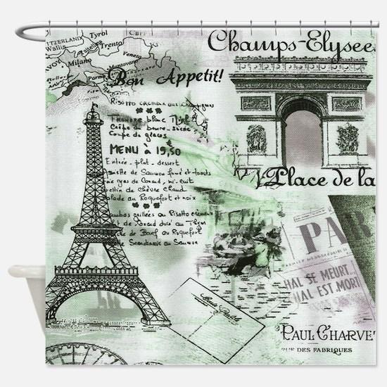 Paris 4 Shower Curtain