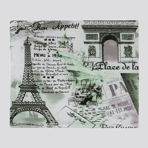 Paris 4 Throw Blanket