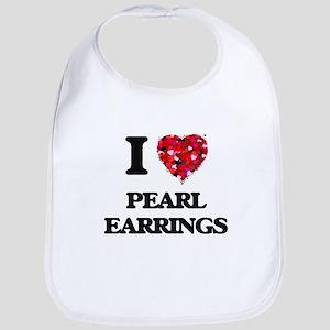 I love Pearl Earrings Bib