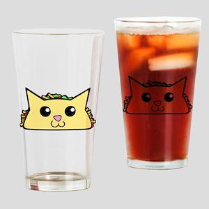 Taco Cat Drinking Glass