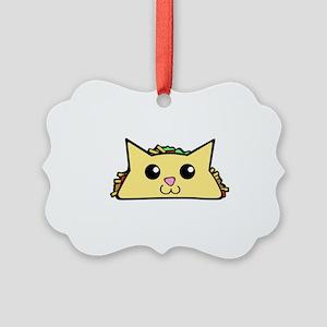 Taco Cat Picture Ornament