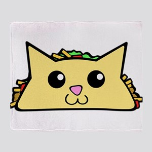 Taco Cat Throw Blanket