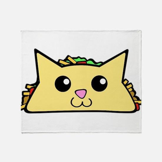 Taco Cat Throw Blanket