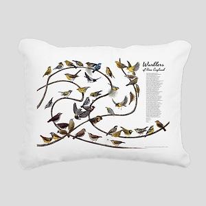 Warblers of New England Rectangular Canvas Pillow