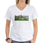 Old Quebec Panoramic View Women's V-Neck T-Shirt