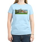 Old Quebec Panoramic View Women's Light T-Shirt