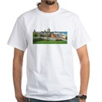 Old Quebec Panoramic View White T-Shirt