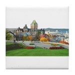 Old Quebec Panoramic View Tile Coaster