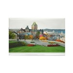 Old Quebec Panoramic View Rectangle Magnet (100 pa