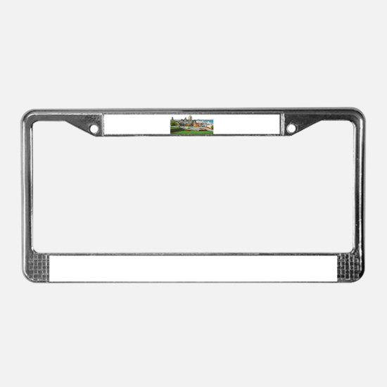 Old Quebec Panoramic View License Plate Frame