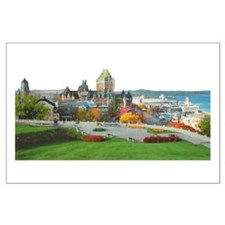 Old Quebec Panoramic View Large Poster