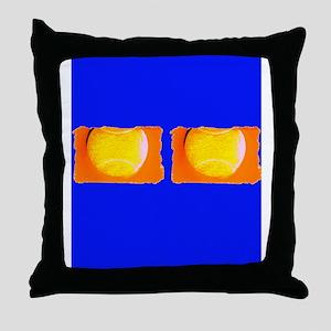 Tennis Cobalt Blue for Leonard Throw Pillow