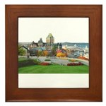 Old Quebec Panoramic View Framed Tile