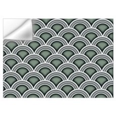 Art Deco Concentric Sage Wall Decal