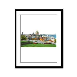Old Quebec Panoramic View Framed Panel Print
