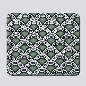 Art Deco Concentric Sage Mousepad