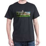Old Quebec Panoramic View Dark T-Shirt