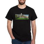 Old Quebec Panoramic View Dark T-Shirt