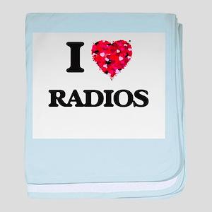 I love Radios baby blanket