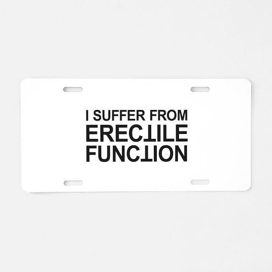 Erectile Function Aluminum License Plate
