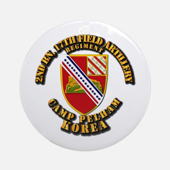 2nd Bn 17th Field Artillery Regt Ornament (Round)