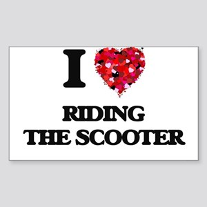 I love Riding The Scooter Sticker