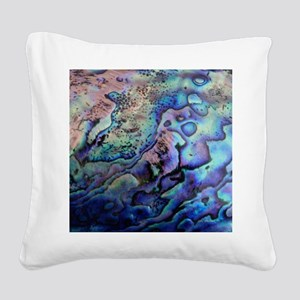 Abalone Square Canvas Pillow
