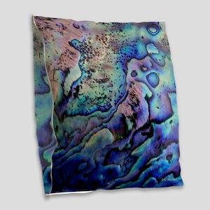 Abalone Burlap Throw Pillow