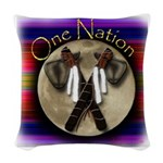 One Nation, Indian Woven Throw Pillow