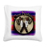 One Nation, Indian Square Canvas Pillow